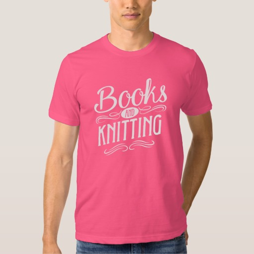 Books and Knitting Mug (men's white design)