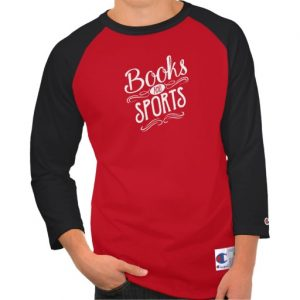 Books and Sports Shirt (men's white design)