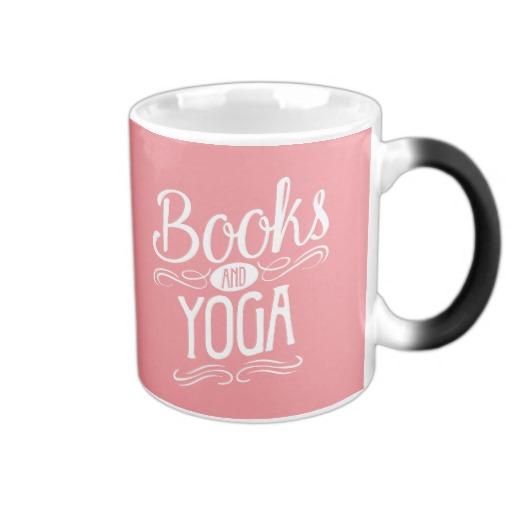 Books and Yoga Mug