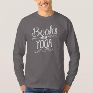 Books and Yoga Shirt (men's white design)