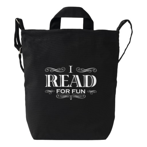 I Read For Fun Duck Bag (white design)