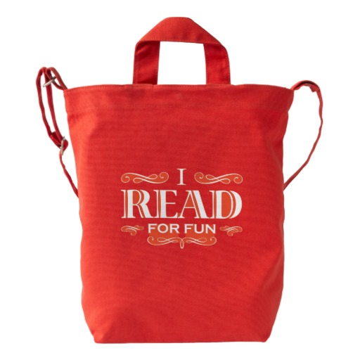I Read For Fun Duck Bag (white design)