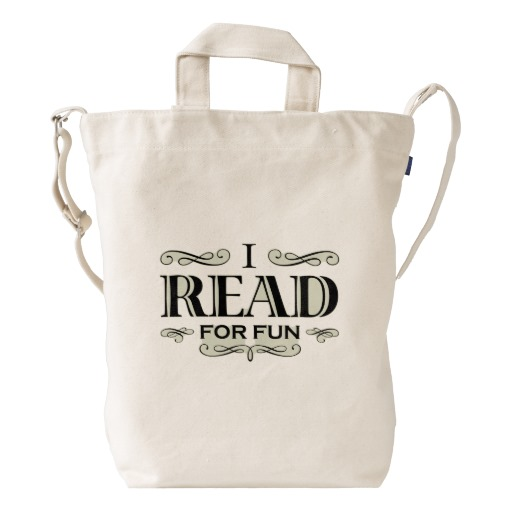 I Read For Fun Duck Bag (black design)