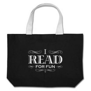 I Read For Fun Jumbo Tote Bag (white design)