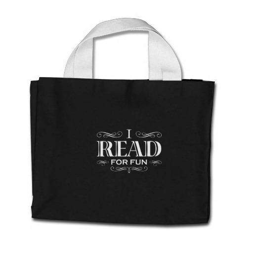 I Read For Fun Mini Tote Bag (white design)