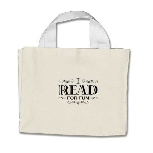 I Read For Fun Mini Tote Bag (black design)