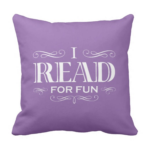 I Read For Fun Pillow