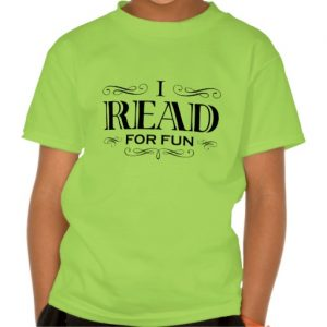 I Read For Fun T-shirt (kid's black design)