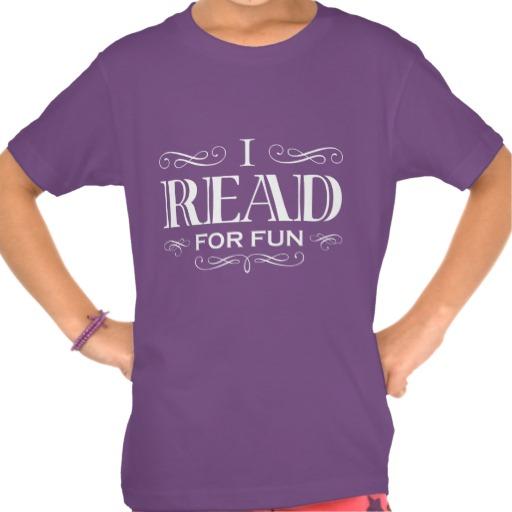 I Read For Fun T-shirt (kid's white design)