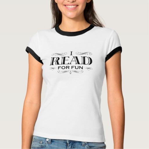 I Read For Fun T-shirt (women's black design)