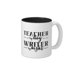 Teacher by Day, Writer by Night Mug (black design)