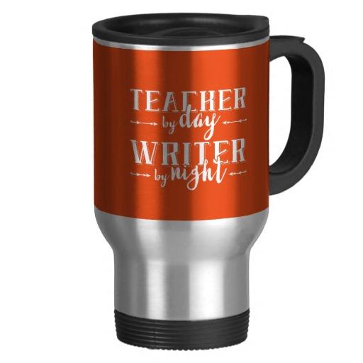 Teacher by Day, Writer by Night Mug (white design)