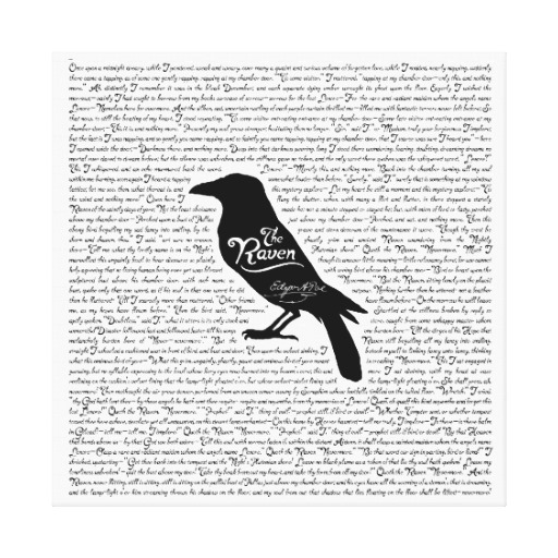 the raven complete poem by edgar allan poe canvas print beetiful