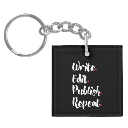 Write  Edit  Publish  Repeat  Double-Sided Square Acrylic