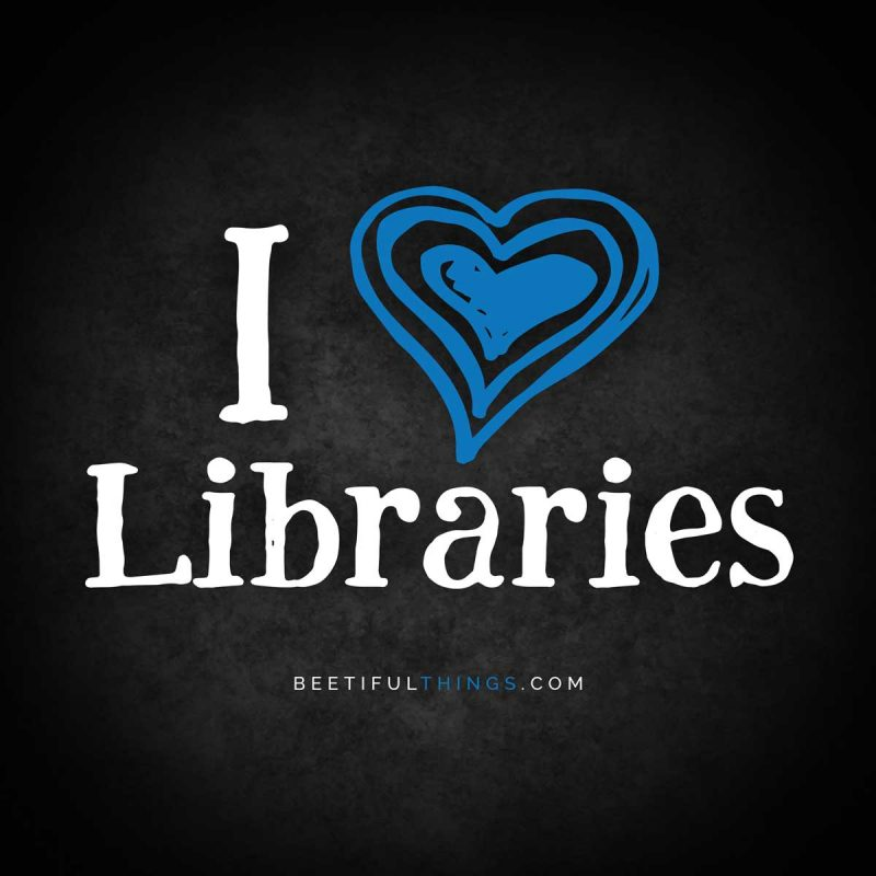 I Heart Libraries (blue)