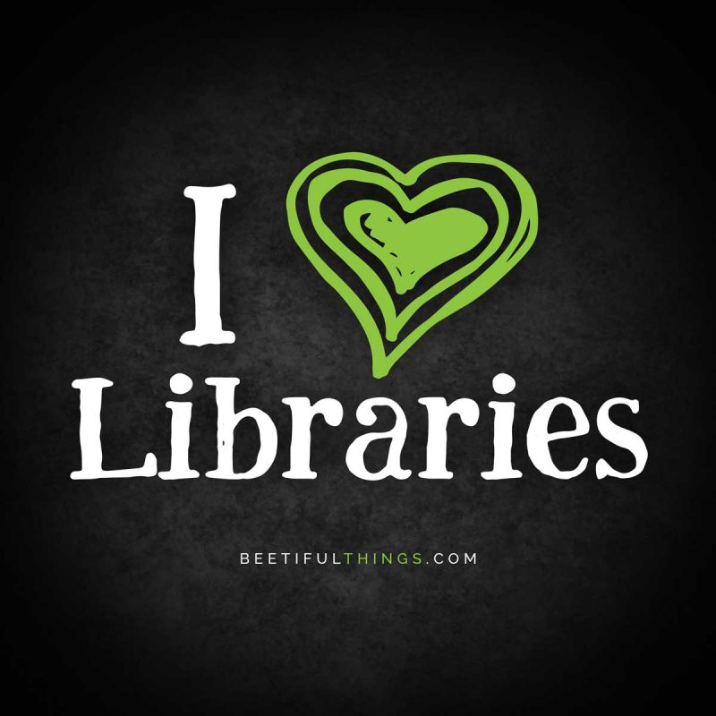 I Heart Libraries (green)