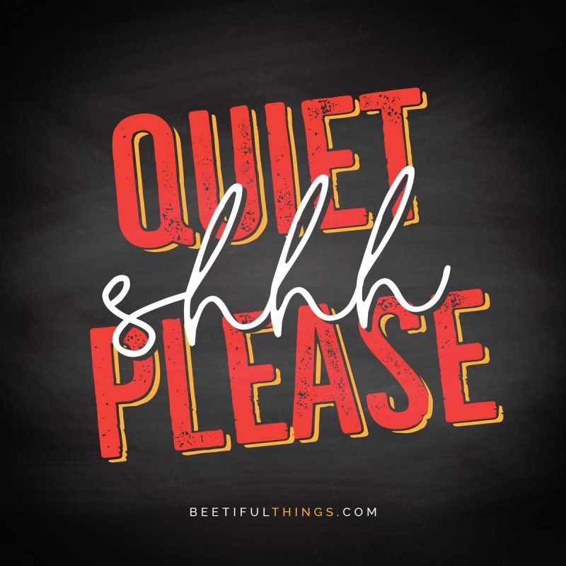 Shhh... Quiet Please