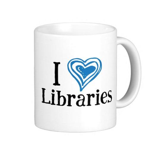 I [Heart] Libraries Mug (blue/black)