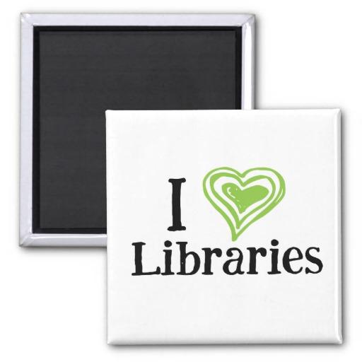 I [Heart] Libraries Magnet (green/black)