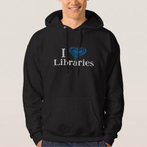 I [Heart] Libraries Men's Shirt (blue/black)