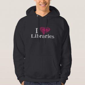 I [Heart] Libraries Men's Shirt (pink/white)