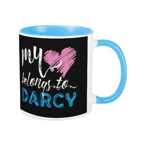 My [heart] belongs to Darcy - Jane Austen Mug