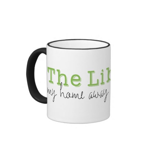 The Library: My Home Away From Home Mug (black design)