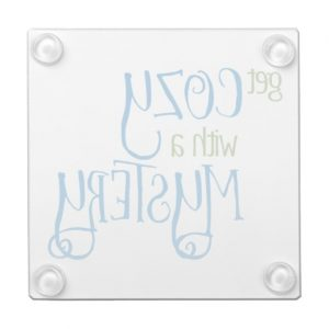 Get Cozy with a Mystery Glass Coaster (colored design)