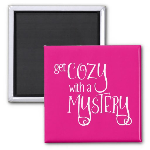 Get Cozy with a Mystery Magnet (white design)