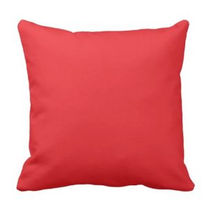 Write Drunk Edit Sober Square Pillow (red and white)