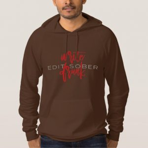 Write Drunk Edit Sober Man's Long Sleeve (red and white) (Copy)