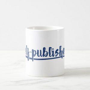 Self-published Mug (blue design)