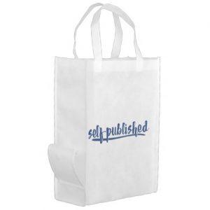 Self-published Grocery Bag (blue design)