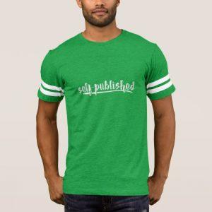 Self-published Man's Shirt (white writing)