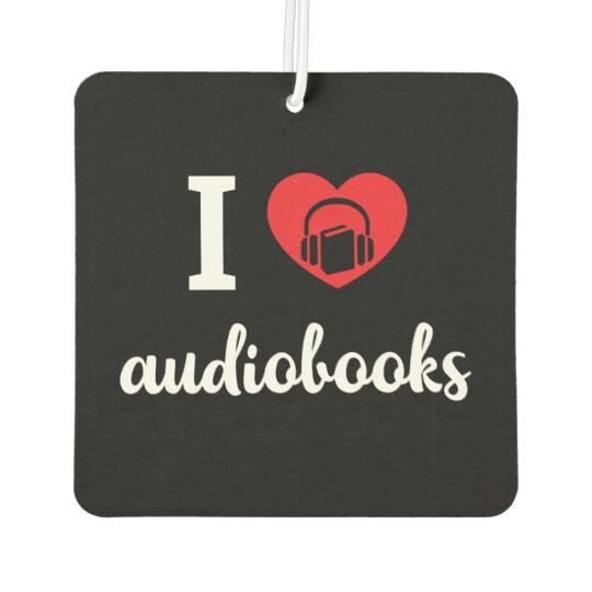 I Heart Audiobooks Air Freshener