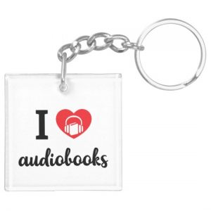 I Heart Audiobooks Keychain