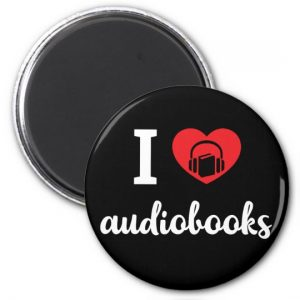 I Heart Audiobooks Round Pillow