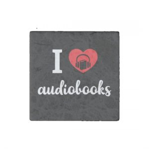 I Heart Audiobooks Square Magnet Set