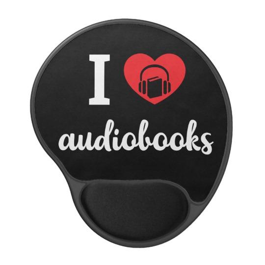 I Heart Audiobooks Mouse Pad