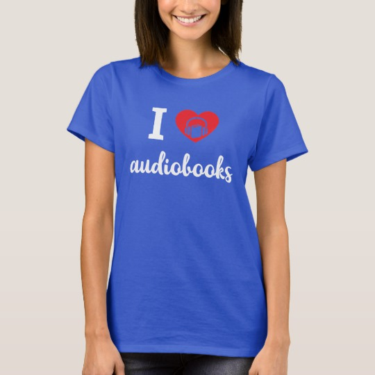 I Heart Audiobooks Women's Shirt (white design)
