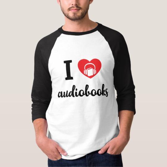 I Heart Audiobooks Men's Shirt (dark design)