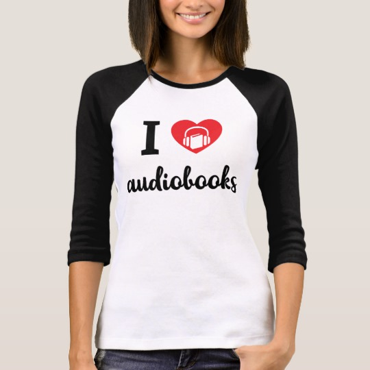 I Heart Audiobooks Women's Shirt (dark design)