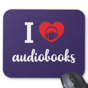 I Heart Audiobooks Mouse Pad